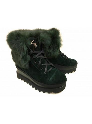 Женские Зимние Ботинки На Тракторной Подошве Emerald