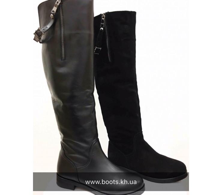 Женские кожаные высокие сапоги AURIS
