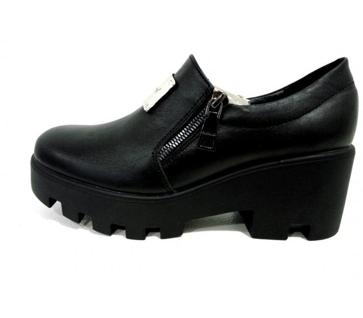 Кожаные туфли на тракторной подошве AURIS