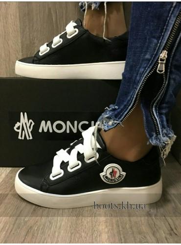 Весенние Женские кожаные кроссовки кеды Monclir