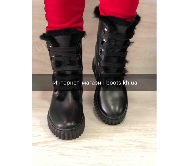 Женские кожаные зимние ботинки в стиле Alexander Wang