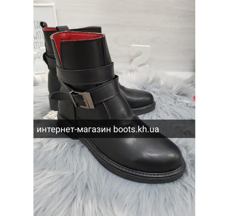 Стильные Женские Зимние Ботинки Кожа