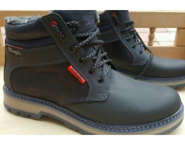 Зимние мужские ботинки Wrangler Кожа Blue