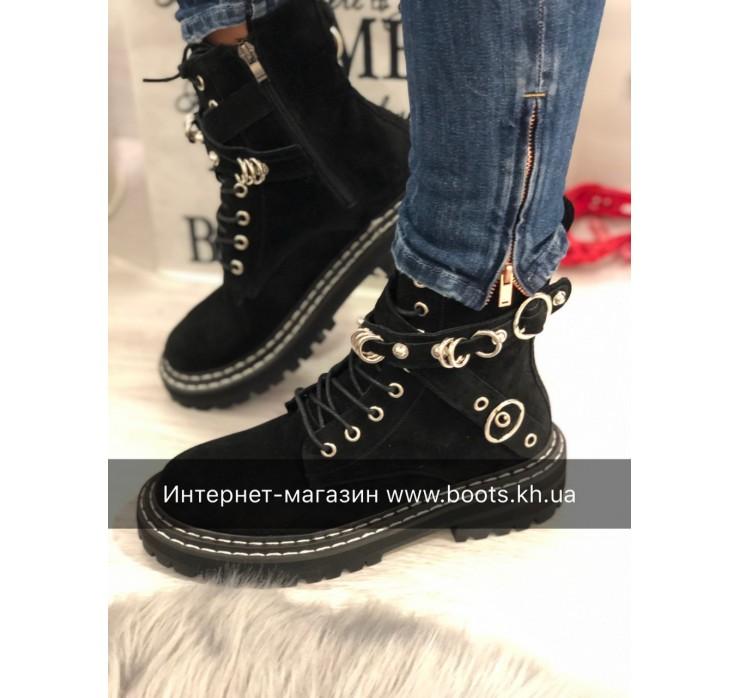Женские кожаные ботинки Lux