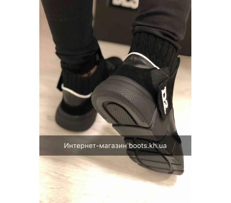 Женские зимние кожаные кроссовки Dsgared2