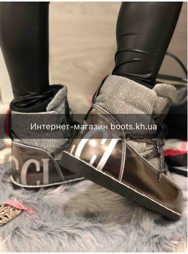 Женские луноходы Moon Boot в стиле  GUCCI
