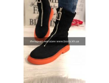 Женские замшевые ботинки-socks в стиле Chanel