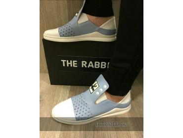 Женские кожаные слипоны the Rabbit blue