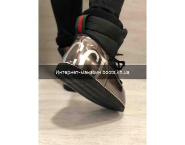 Женские Луноходы Moon Boot В Стиле Gucci Black