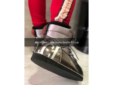 Женские луноходы Moon Boot в стиле Gucci Grey