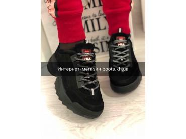 Женские замшевые кроссовки в стиле Fila
