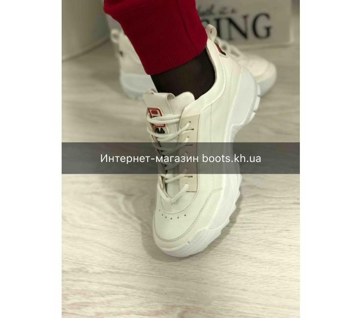 Женские кожаные кроссовки в стиле Fila